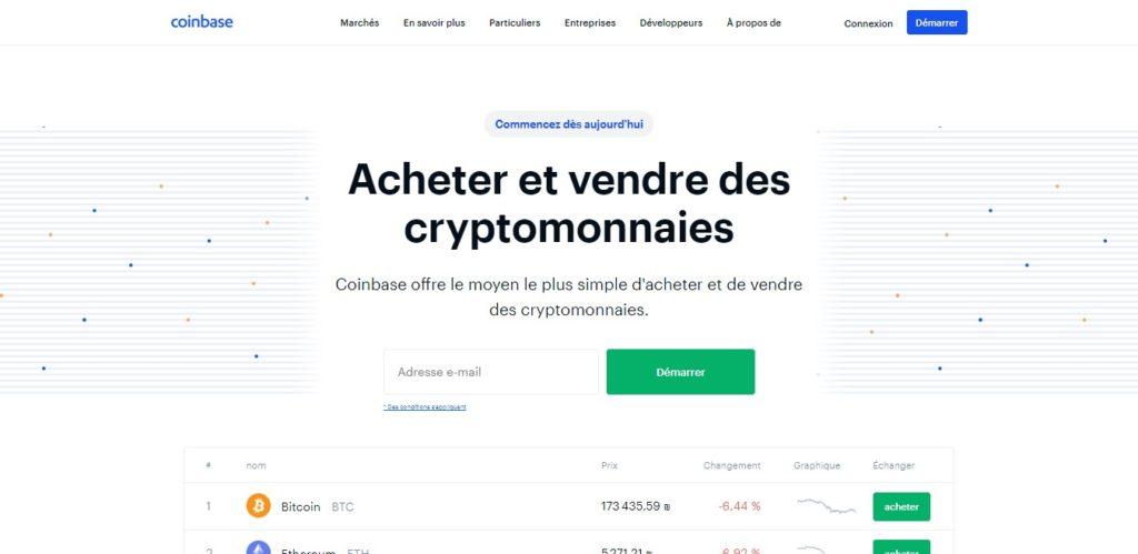 Acheter des cryptomonnaies : La Plateforme Coinbase